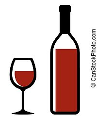 black wine bottle and glass silhouette on white background rh canstockphoto com wine bottle clip art free bottle wine clipart