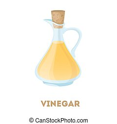 Isolated bottle of vinegar.
