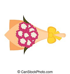 Isolated bouquet of verbena flowers. Vector illustration design