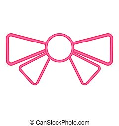 Isolated bow ribbon icon