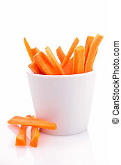 isolated bowl of carrot