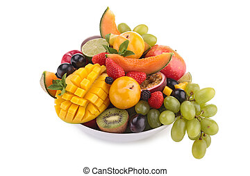 isolated bowl of fruits