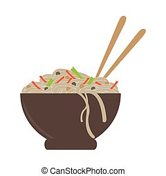 Isolated bowl of noodles