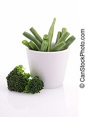 isolated bowl of vegetable