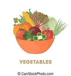 Isolated bowl of vegetables.
