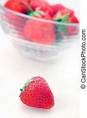 Isolated bowl with strawberry