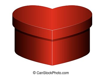 isolated box in heart shape