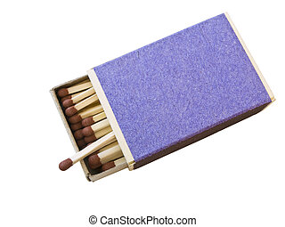 Isolated box of matches against the white background