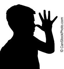 Isolated Boy Child Gesture Teaser