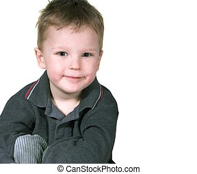 boy - isolated boy with expresion