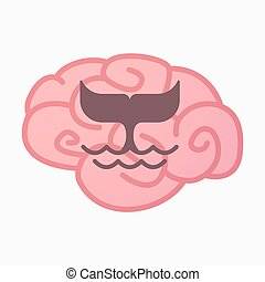 Isolated brain with a whale tail