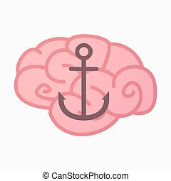 Isolated brain with an anchor