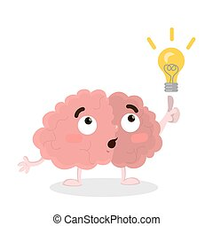 Isolated brain with idea.