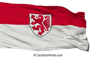 Isolated Braunschweig city flag, Germany - Braunschweig...