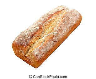 Isolated bread on white