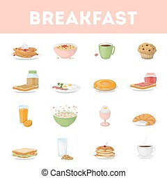 Isolated breakfast set.