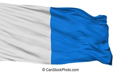 Isolated Brescia city flag, Italy - Brescia flag, city of...
