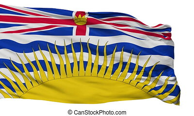 Isolated British Columbia city flag, Canada - British...