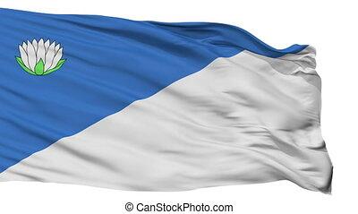 Isolated Broceni city flag, Latvia - Broceni flag, city of...