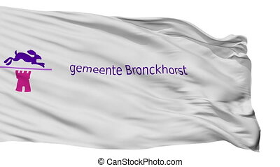 Isolated Bronckhorst city flag, Netherlands - Bronckhorst...