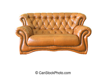 isolated brown Luxurious armchair