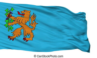 Isolated Brummen city flag, Netherlands - Brummen flag, city...