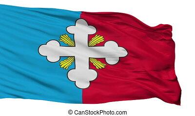 Isolated Budyonnovsk city flag, Russia - Budyonnovsk flag,...