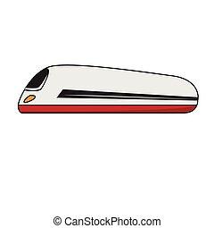 Isolated bullet train cartoon