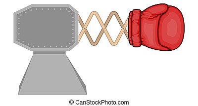 Isolated bunker with a boxing glove - Vector