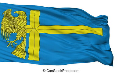 Isolated Bunschoten city flag, Netherlands - Bunschoten...