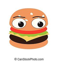 Isolated burger emote