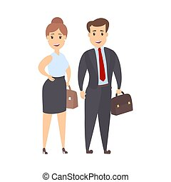 Isolated business couple.