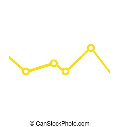 Isolated business graph on a white background