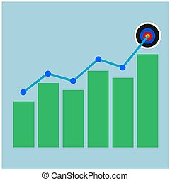 Isolated business growth graph icon