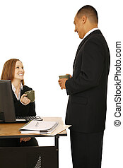 Isolated Business People Chat