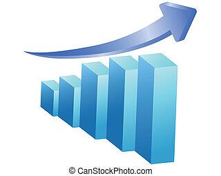 business rising bar
