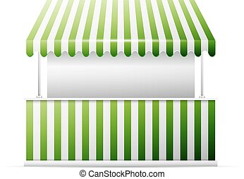Detailed vector illustration of a stall, excellent vector illustration, EPS 10