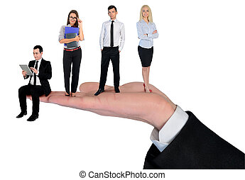 Isolated business team