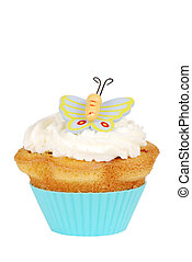 Isolated Butterfly cupcake