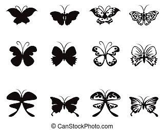 Butterfly pattern vector