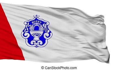Isolated Buzeta city flag, Croatia - Buzeta flag, city of...