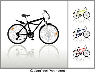 Isolated bycicle illustration, vector