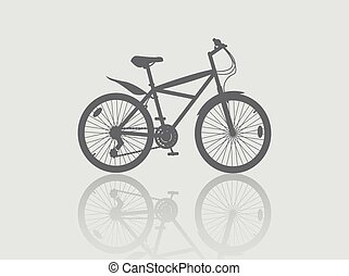 bycicle - Isolated bycicle, silhouette illustration