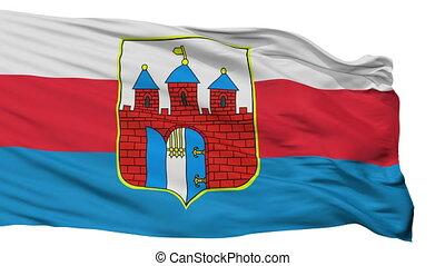 Isolated Bydgoszcz city flag, Poland - Bydgoszcz flag, city...