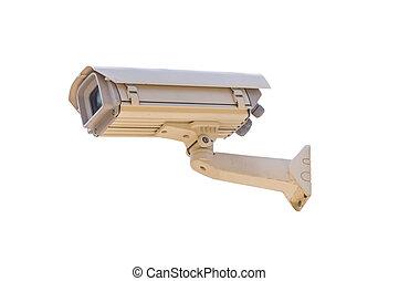 isolated., câmera segurança, antigas
