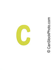 Isolated C capital letter