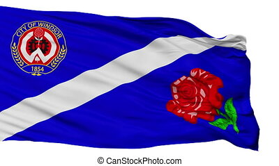 Isolated Ca On Windsor city flag, Canada - Ca On Windsor...