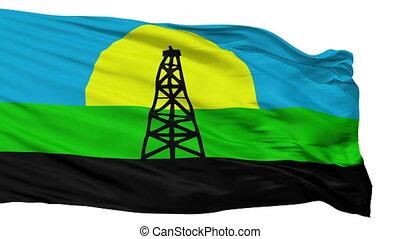 Isolated Cabimas city flag, Venezuela - Cabimas flag, city...