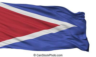 Isolated Cabo Rojo city flag, Puerto Rico - Cabo Rojo flag,...