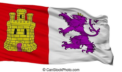 Isolated Caceres city flag, Spain - Caceres flag, city of...
